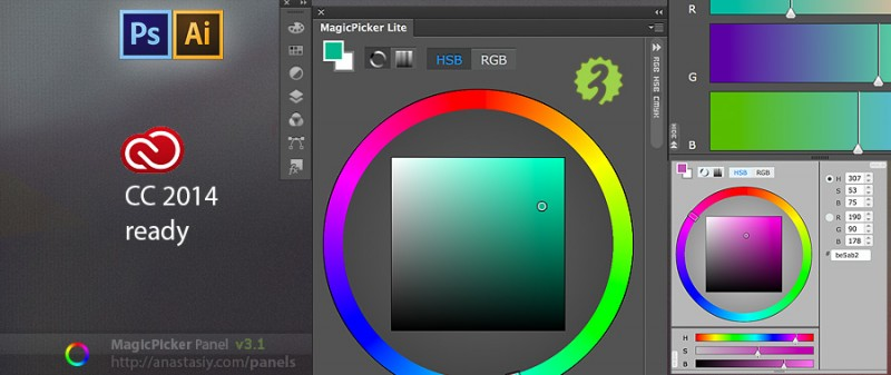 MagicPicker Lite for Adobe Illustrator and Photoshop CC 2014