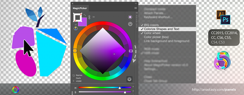 Change Fill & Stroke colors with MagicPicker