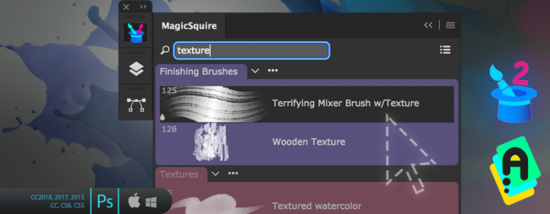 MagicSquire 2.2 with Live Search in Photoshop