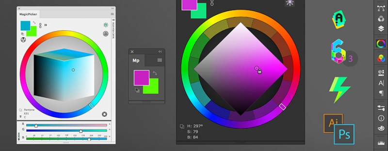 MagicPicker 6.3 - professional color wheel panel