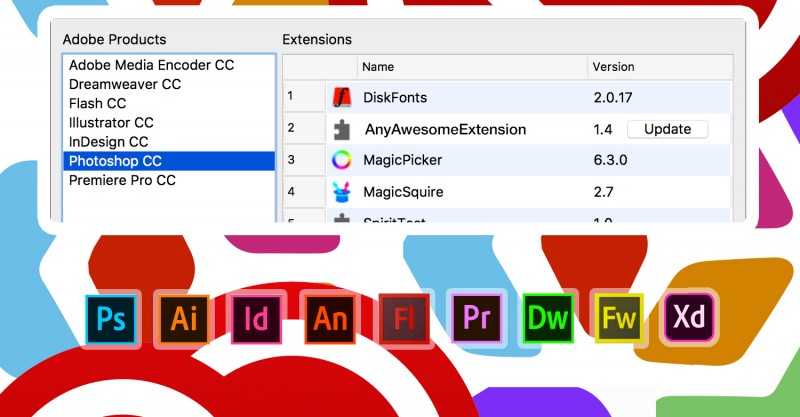 Free Anastasiy Extension Manager for Adobe software
