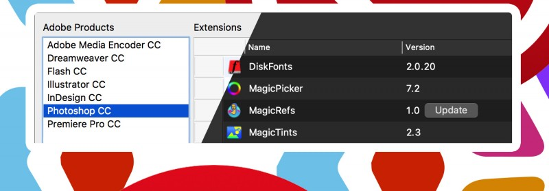 Free Extension Manager & Installer 3.7 from Anastasiy for Adobe CC software